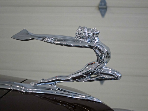 The cars were all completely restored, even down to the ornamental details.